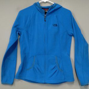 The North Face Blue Full zip Fleece Hoodie size M